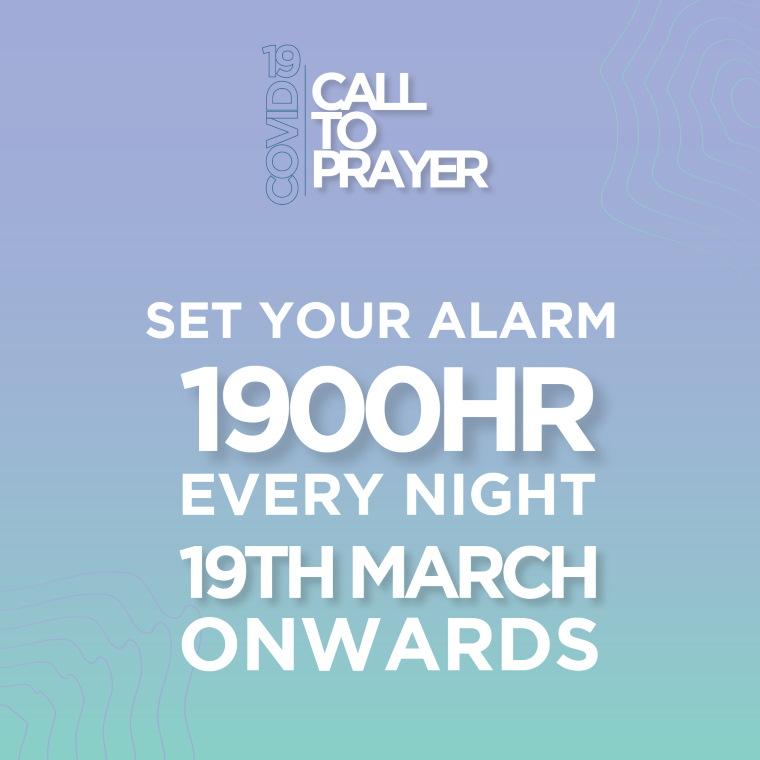 Call for Prayer 1900HR every night