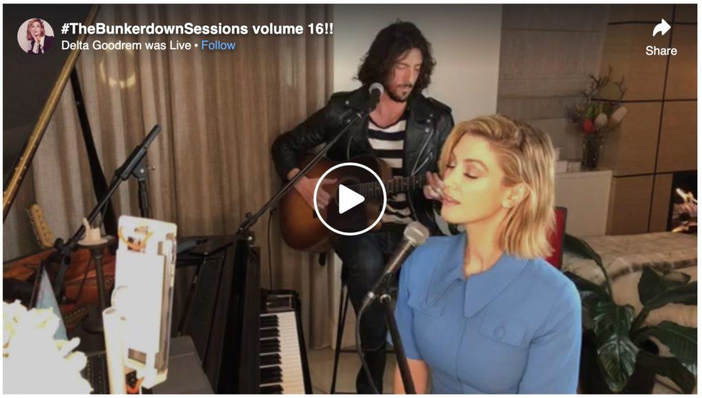 Delta goodrem singing live in the #BunkerDownSessions