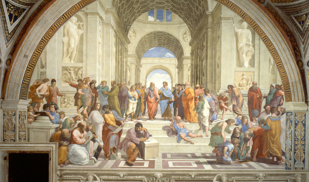Raphael's The School of Athens. There's a place for big ideas in the kingdom of God (creative commons)