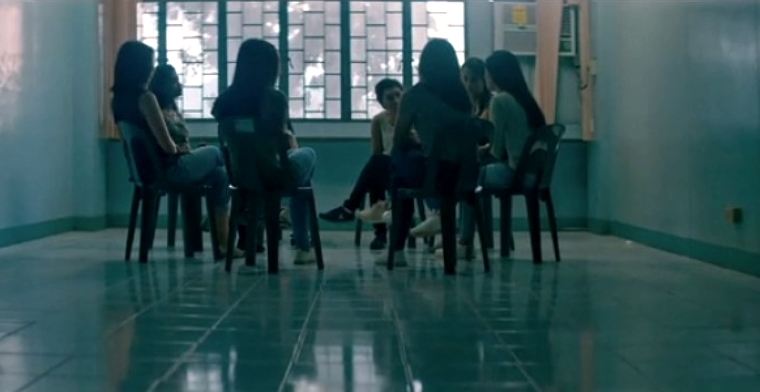 a support group in IJM video on cybersex