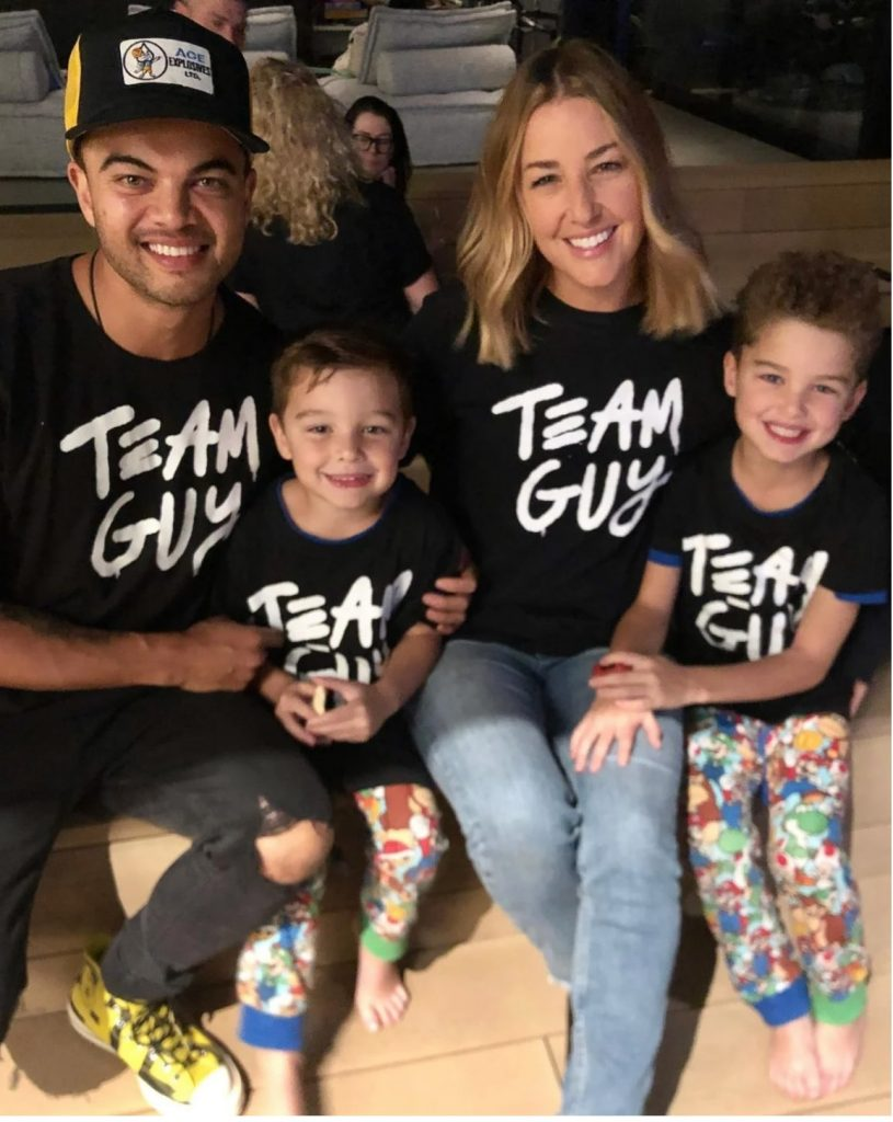 Guy and Jules Sebastian with their two kids
